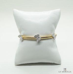 【送料無料】ブレスレット シルバーブレスレットbracciale in argento giallo con zirconi bianchi a forma di farfallina