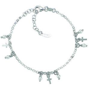 【送料無料】ブレスレット アーメンブレスレットシルバーbr3crbp amen bracciale perle e croci argento