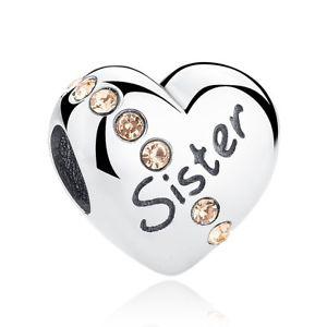 【送料無料】ブレスレット charm in argento love sterling 925 r9u love argento sister heart, compatibile con r9u, テレマティクス:f0c8fc51 --- ww.thecollagist.com