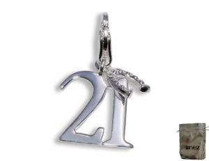 【送料無料】ブレスレット シルバーペンダントenez vero 925argento ciondolo a forma di fascino 21di ferro di c7w