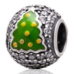 【送料無料】ブレスレット スターリングシルバークリスマスツリー×クリアsoulbead 925sterling silver christmas tree clear cz charm per regalo di n2x