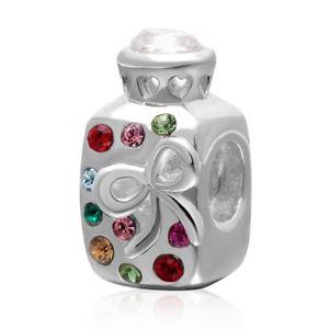 【送料無料】ブレスレット スターリングシルバーテープペンダントボトルsoulbead wish bottiglia con nastro love ciondolo in argento sterling s5e