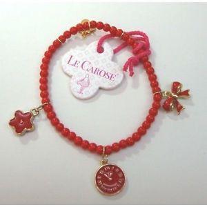 【送料無料】ブレスレット カフコレクションレッドエンカントbracciale collezione elastic rosso le carose by toco dencanto