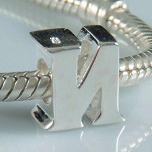 【送料無料】ブレスレット アルファベットスターリングシルバーcharm con lettera dellalfabeto, a, in vero argento sterling adatti per i0w