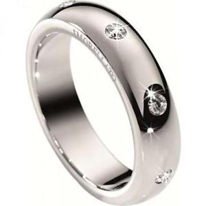 【送料無料】ブレスレット リングシルバーリングmorellato anello donna love rings sna04014 misura 14 cristalli argento fedina