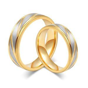 【送料無料】ブレスレット ステンレスゴールドシルバーリング2 anelli di fidanzamento in acciaio inossidabile fedi fedine oroargento