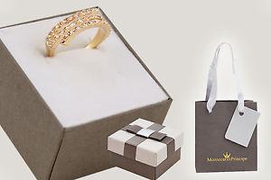 【送料無料】ブレスレット ※ゴールドリング*pll* anello donna con cerchi alternati e strass m mp13863 col oro tg18