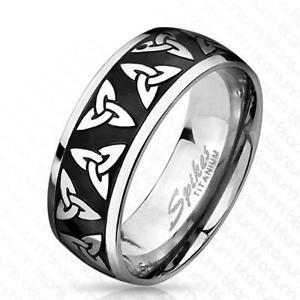 【超安い】 【送料無料】ブレスレット リングブラックチタンセルティックaf anello titanio nero 8 mm larghezza celtico trinittsknoten 60 19 66 21, アミダトレーディング b753bec9