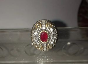 【送料無料】ブレスレット スターリングシルバールビーリングサイズsplendido argento sterling 925 anello rubino taglia 6