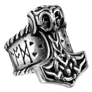 【送料無料】ブレスレット ジャーナルゴシックリングピューターシルバーストラップサイズufficiale alchemy gothic thors runehammer anello peltro cinturino argento sized