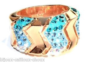 【送料無料】ブレスレット bague couleur or cristal camaeu de bleu t 50 bijou ring