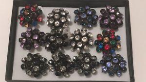 品揃え豊富で 【送料無料】ブレスレット ジョブロット×リングjob lot 12 x shiny gem metallo bling anelli amp; display, mercatobagagliaiorivendita, 【18%OFF】 cb92342d