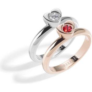【送料無料】ブレスレット リングリングサイズmorellato anello donna love rings acciaio ros taglia 16 rif sna32016