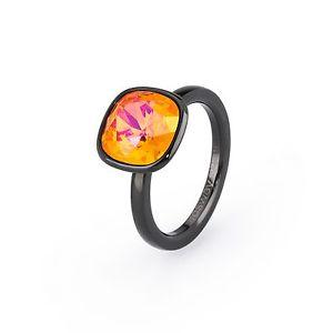 【送料無料】ブレスレット ブラックスチールクリスタルオレンジリングanello donna brosway tring esuberanza acciaio pvd nero cristallo arancio mis 14