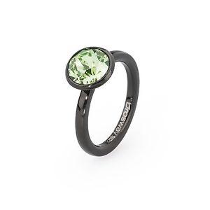 【送料無料】ブレスレット ブラックスチールクリスタルグリーンanello da donna brosway tring tenacia acciaio pvd nero cristallo verde mis 14