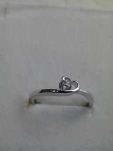 【送料無料】ブレスレット ハートシルバーリングホワイトジルコンanello cuore donnasolitario argento 925,zircone bianco 1012141618 ringsilver