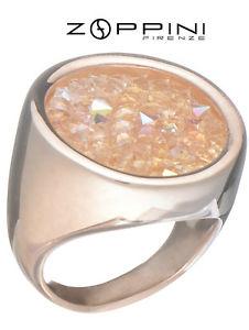 【送料無料】ブレスレット anello in acciaio dorato rosa zoppini g1172_4407 mis14 swarovski boreali