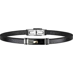 【送料無料】ブレスレット ブレスレットkゴールドネジブレスレットbracciale breil 9k vite oro uomo tj1981 bracelet pelle nera nuovo