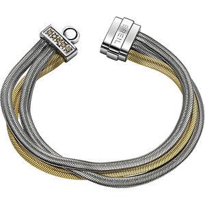 【送料無料】ブレスレット スチールブレスレットァーbreil breilogy bracciale in acciaio e cristalli tj1512 nuovo erta
