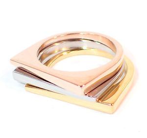 【送料無料】ブレスレット スチールリングピンクゴールドシルバーモダンステンレスanello in acciaio 316l donna 3 1 oro rosa argento inossidabile moderno