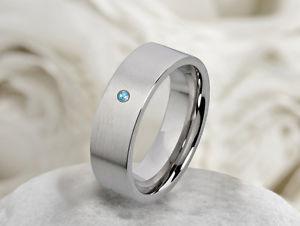 【送料無料】ブレスレット トパーズステンレススチールリングリングanello di fidanzamento da donna anello in acciaio inox con vera topaz e anello incisione m059