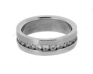 【送料無料】ブレスレット ステンレススチールサイズリングacciaio inossidabile eternity anello con czs in 8 taglie r21