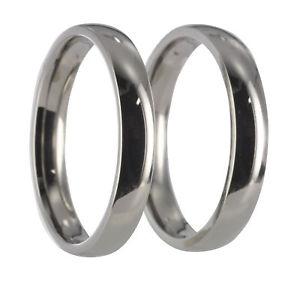 【送料無料】ブレスレット ステンレススチールリング2 anelli in acciaio inox, anelli nuziali, fedi con incisione 20004