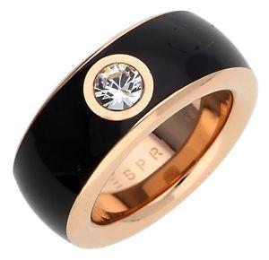 【送料無料】ブレスレット リングステンレススチールゴールドピンクブラックesprit donna dito anello in acciaio inox oro rosanero fancy esrg 12194f