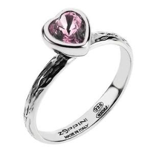 【送料無料】ブレスレット ピンクリングanello donna silverings cuore rosa misura 16 sr_b0015 zoppini
