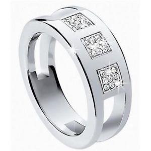 【送料無料】ブレスレット ヒッピーリングロゴmorellato hippy anello donna s0d06012 acciaio fede fedina logo cristalli mis12