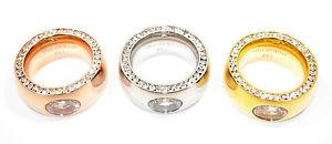 【送料無料】ブレスレット ステンレスリングローズゴールドシルバースチールリングモダンリングanello in acciaio inossidabile anello da donna dito anello 13mm rose argento oro strass co