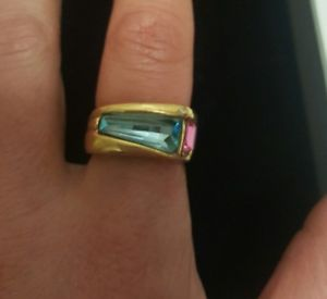 【送料無料】ブレスレット リングビンテージゴールドanello placc oro vintage cristalli mis 13