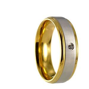 【送料無料】ブレスレット ステンレススチールリングbicolore anello in acciaio inox fede nuziale anello di fidanzamento incisione gratuita 30164