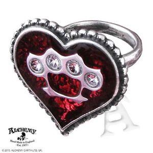【送料無料】ブレスレット セベロエナメルリングピューター alchemy ul17 affetto severo rosso peltro smalto cuore di cristallo anello uk made ulfr 5