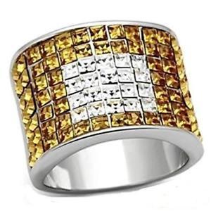 【送料無料】ブレスレット loa839 principessa topazio giallo quadrato dichiarazione anello da donna comfort frizzante