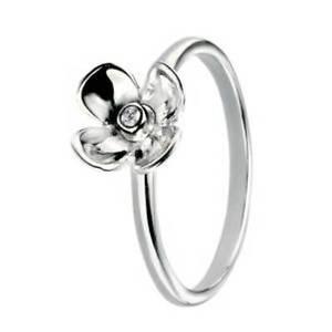 【送料無料】ブレスレット エレメントシルバーフラワーリングサイズelements silver cz fiore anello, dimensione n, r3442c