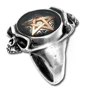【送料無料】ブレスレット alchemy gothic anello giara pentagram cranio dimensione n 1454