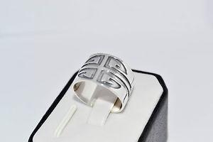 【送料無料】ブレスレット スターリングシルバーハンドメイドソリッドリングサイズ925 argento sterling fatto a mano solido anello taglia uko o p