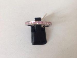 【送料無料】ブレスレット スターリングシルバーピンクリングサイズsplendido argento sterling rosa cz anello full eternity taglia u
