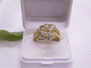 【送料無料】ブレスレット リングシルバーゴールドattrae anello con zirconi 925er argentodorato tg 6119,4