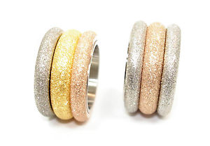 【送料無料】ブレスレット スチールリングマットシルバーピンクゴールドモダンanello in acciaio donna 14 mm opaco rosa argento oro colori moderno