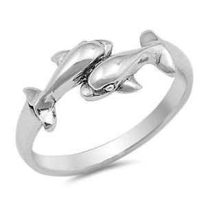 【送料無料】ブレスレット スターリングリゾーツスターリングシルバーリングイルカargento sterling anello due delfini