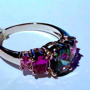 【送料無料】ブレスレット シルバートパーズリングサイズgrandi dimensioni molto bello argento mistico topazio anello taglia 11