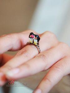 【送料無料】ブレスレット リングエナメルシンanello smalto rosso bianco nero due uccelli amore sottile originale t53 l3