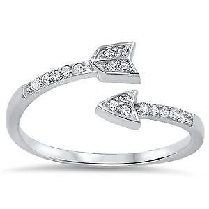 【送料無料】ブレスレット スターリングシルバーリングsterling silver cz anello freccia