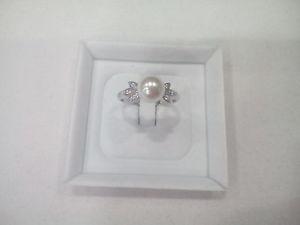 【送料無料】ブレスレット リングスターリングシルバーパールホワイトサンバレンティーノリングパールanello donna argento 925, perla bianca e zirconi mis 18 san valentino ring pearl