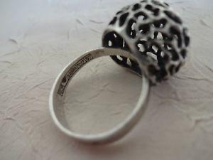 【送料無料】ブレスレット アルジェントマッシフブールリングt5657 bague anneau argent massif poinons,boule ajouree filigranee ring woman