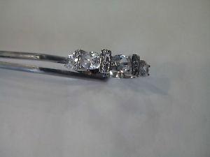 【送料無料】ブレスレット anello donna fedina argento 925,zirconi bianchi mis 12 14 san valentino ring