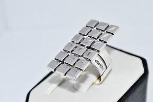 【送料無料】ブレスレット スターリングシルバーリングハンドメイドソリッドカット925 argento sterling anello fatto a mano tinta unita taglia ukmus 65