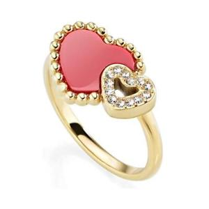 【送料無料】ブレスレット リングイエローゴールドハートラメmorellato anello donna sempreinsieme sagf110 pvd oro giallo cuore brillantini dd